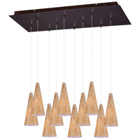 ET2 E93930-103BZ Minx 10 Light 13 inch Bronze Multi-Light Pendant Ceiling Light