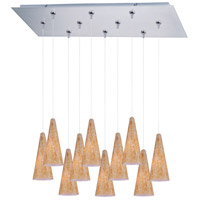 ET2 Minx 10 Light Linear Pendant in Satin Nickel E93930-103SN