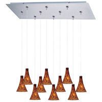 ET2 Minx 10 Light Linear Pendant in Satin Nickel E93931-104SN