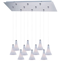 ET2 Minx 10 Light Linear Pendant in Satin Nickel E93932-105SN