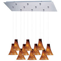 ET2 Minx 10 Light Linear Pendant in Satin Nickel E93933-104SN