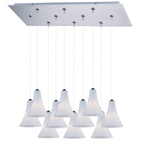 ET2 Minx 10 Light Linear Pendant in Satin Nickel E93934-105SN