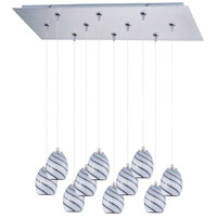 ET2 Minx 10 Light Linear Pendant in Satin Nickel E93937-108SN