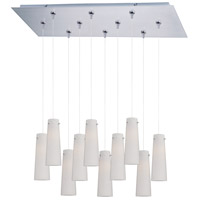 ET2 Minx 10 Light Linear Pendant in Satin Nickel E93939-112SN