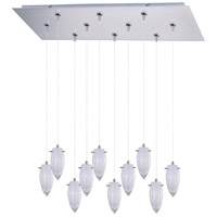 Minx 10 Light 32 inch Satin Nickel Linear Pendant Ceiling Light
