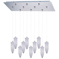 ET2 Minx 10 Light Linear Pendant in Satin Nickel E93942-113SN