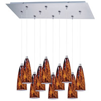 ET2 Minx 10 Light Linear Pendant in Satin Nickel E93943-102SN
