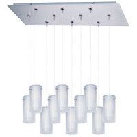 Frost 10 Light 32 inch Satin Nickel Linear Pendant Ceiling Light