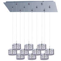 Inca 10 Light 32 inch Polished Chrome Linear Pendant Ceiling Light