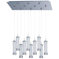 Chroma LED 32 inch Polished Chrome Linear Pendant Ceiling Light in Clear Iridescent