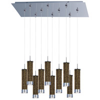 ET2 Chroma 10 Light Linear Pendant in Polished Chrome E93950-136PC