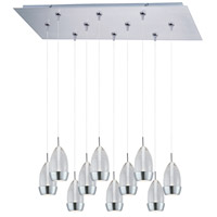 ET2 Luxe 10 Light Linear Pendant in Satin Nickel E93952-91SN