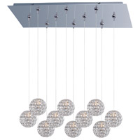 Brilliant 10 Light 32 inch Polished Chrome Linear Pendant Ceiling Light