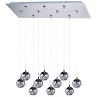 ET2 Starburst 10 Light Linear Pendant in Satin Nickel E93972-81SN