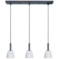 ET2 Carte 3 Light Linear Pendant in Bronze E94013-41