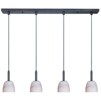 Carte LED 33 inch Bronze Linear Pendant Ceiling Light in Grey Ripple