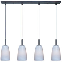 Carte LED 33 inch Bronze Linear Pendant Ceiling Light in White Ripple