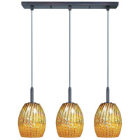 ET2 Carte 3 Light Linear Pendant in Bronze E94073-53