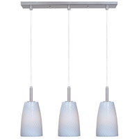 ET2 Carte 3 Light Linear Pendant in Satin Nickel E94143-13