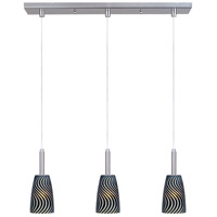 ET2 Carte 3 Light Linear Pendant in Satin Nickel E94143-51 photo thumbnail