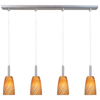 ET2 Carte 4 Light Linear Pendant in Satin Nickel E94144-14