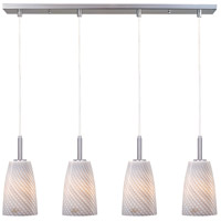 ET2 Carte 4 Light Linear Pendant in Satin Nickel E94144-39
