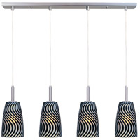 ET2 Carte 4 Light Linear Pendant in Satin Nickel E94144-51