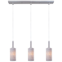 ET2 Carte 3 Light Linear Pendant in Satin Nickel E94153-39