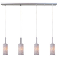 ET2 Carte 4 Light Linear Pendant in Satin Nickel E94154-39