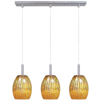 ET2 Carte 3 Light Linear Pendant in Satin Nickel E94173-53