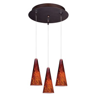 Minx Bronze Multi-Light Pendant Ceiling Light