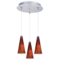 ET2 Minx 3 Light Pendant in Satin Nickel E94629-102SN