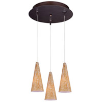ET2 E94630-103BZ Minx Bronze Multi-Light Pendant Ceiling Light