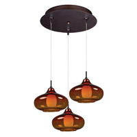 ET2 Minx RapidJack Multi-Light Pendant in Bronze E94648-141BZ
