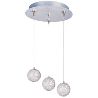 Starburst 3 Light 12 inch Multi-Light Pendant Ceiling Light in Mesh