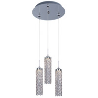 Shanell LED 12 inch Polished Chrome Multi-Light Pendant Ceiling Light