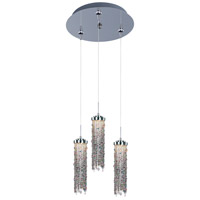 Bianca LED 12 inch Polished Chrome Multi-Light Pendant Ceiling Light