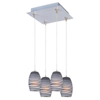 ET2 Minx 4 Light Pendant in Satin Nickel E94704-51SN