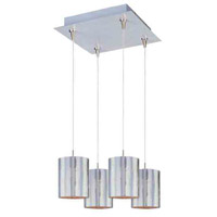 ET2 Minx 4 Light Pendant in Satin Nickel E94707-69SN