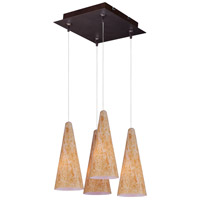 ET2 E94730-103BZ Minx 4 Light 11 inch Bronze Multi-Light Pendant Ceiling Light