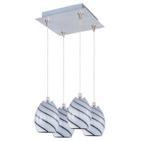 ET2 Minx 4 Light Pendant in Satin Nickel E94737-108SN