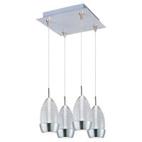 Luxe LED 11 inch Satin Nickel Multi-Light Pendant Ceiling Light