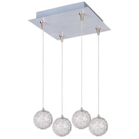ET2 E94772-78 Starburst 4 Light 11 inch Multi-Light Pendant Ceiling Light in Mesh