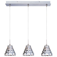 Minx 3 Light 24 inch Satin Nickel Linear Pendant Ceiling Light