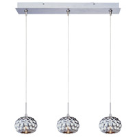ET2 Minx 3 Light Linear Pendant in Satin Nickel E94812-55SN
