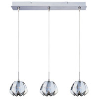 ET2 Minx 3 Light Linear Pendant in Satin Nickel E94813-56SN