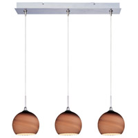 ET2 Minx 3 Light Linear Pendant in Satin Nickel E94815-56SN
