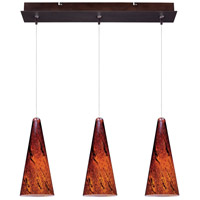 Minx 3 Light Bronze Linear Pendant Ceiling Light