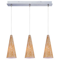 ET2 Minx 3 Light Linear Pendant in Satin Nickel E94830-103SN