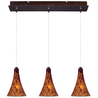 Minx 3 Light 5 inch Bronze Linear Pendant Ceiling Light